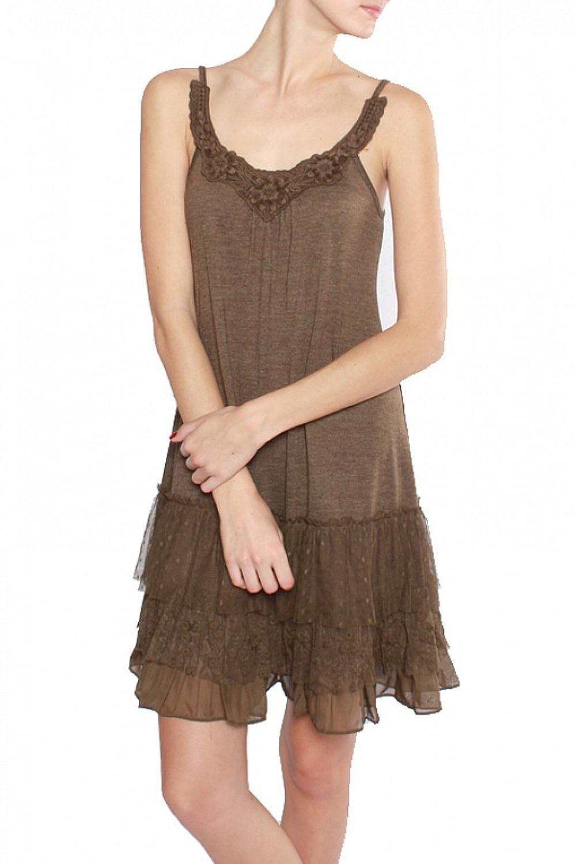 A' REVE Women's Casual Slip Dress with Skirt Extenders
