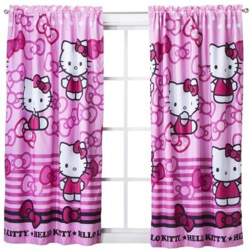 """Sanrio Hello Kitty Blackout Window Panel Drape - 42x63"""""""