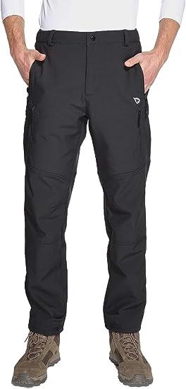 BALEAF Men/'s Fleece-Lined Windproof Ski Pants Waterproof Winter Hiking Pants