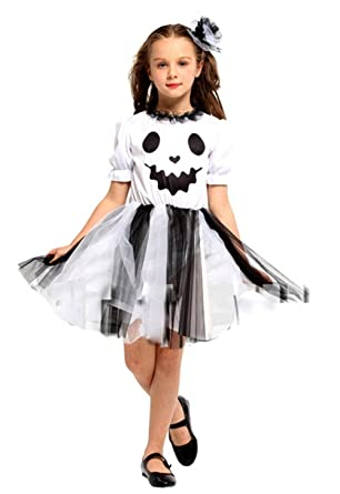 seipe girls halloween ghost costume set cute elf outfits 2 pieces halloween costumes 3 4