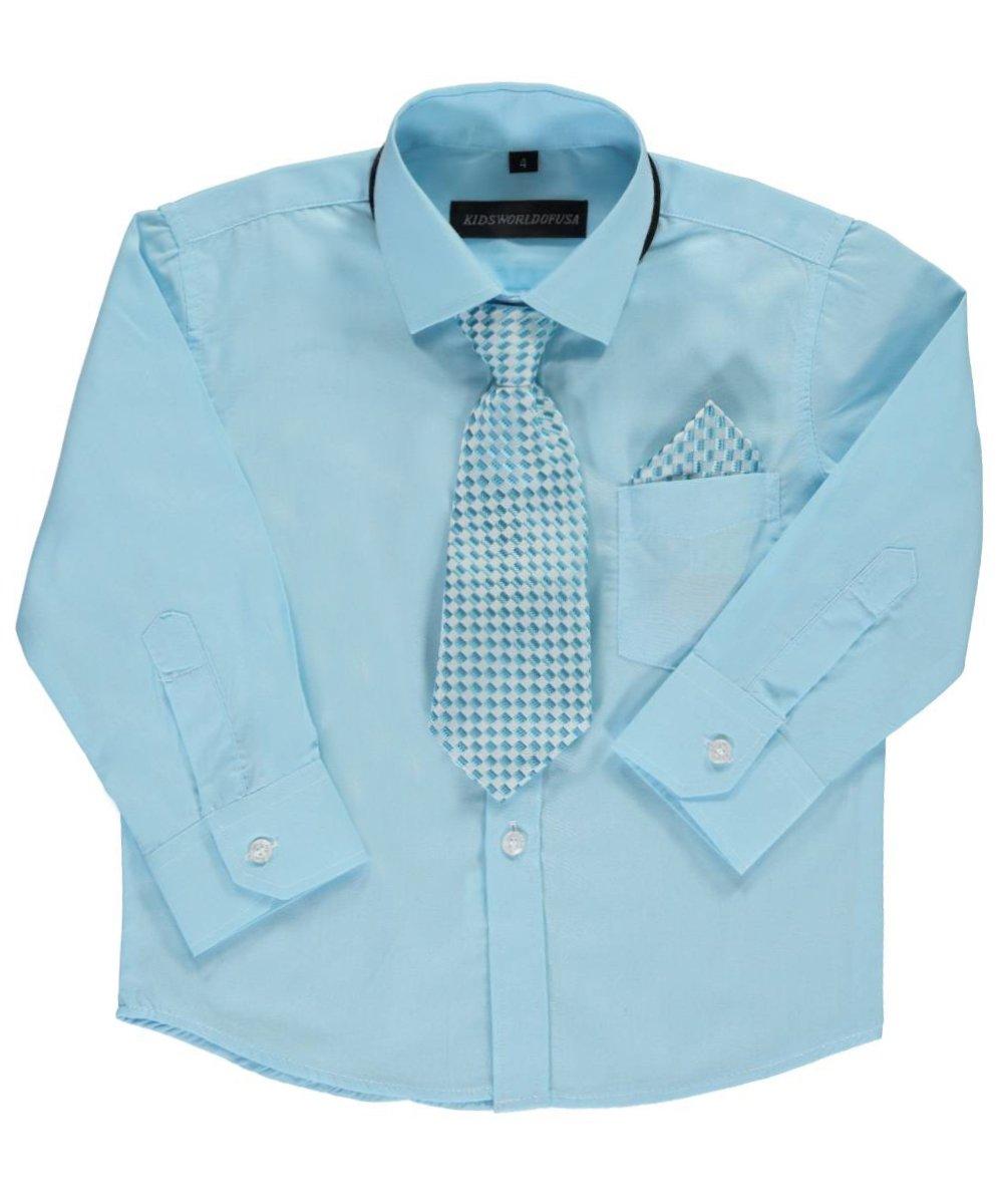 Kids World Little Boys' Dress Shirt with Accessories