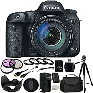 Canon EOS 7D Mark II Digital SLR Camera with 18-135mm IS STM Lens + 32GB Bundle 17PC Accessory Kit.