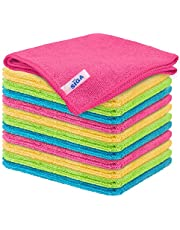"""MR.SIGA Microfiber Cleaning Cloth,Pack of 12,Size:12.6"""" x 12.6"""