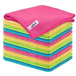 MR.SIGA Microfiber Cleaning Cloth, Pack of 12, Size: 32×32 cm