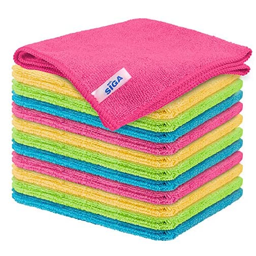 MR.SIGA Microfiber Cleaning Cloth, Pack of 12, Size: 32x32 cm |