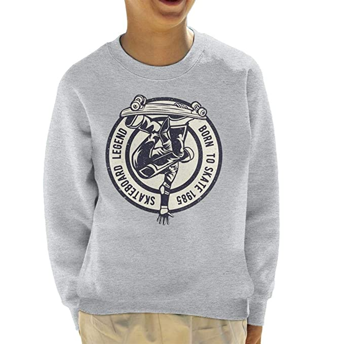 Coto7 Skateboard Legend Born To Skate Kids Sweatshirt: Amazon.es: Ropa y accesorios