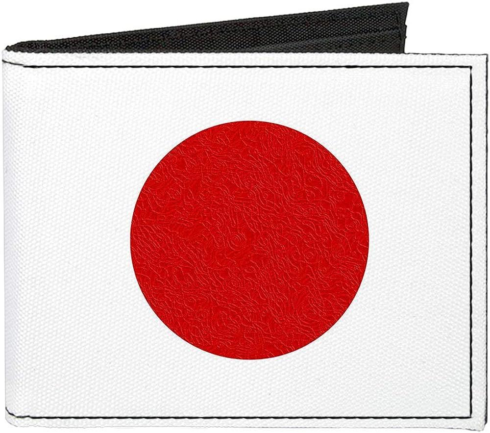 Canvas Bi-Fold Wallet Japan Flag