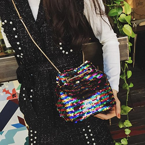 WILLTOO Womens Sequins Bag Fashion Handbag Purse Glitter Shoulder Bag Evening Party Clutch for Girl (Multicolor) by WILLTOO (Image #1)