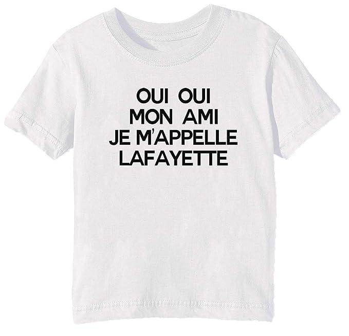 Lafayette Niños Redondo Niña Niño Unisexo Erido Camiseta Cuello dpqawd