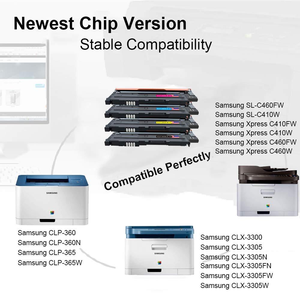 Toner Kingdom 4 Paquete Compatible Cartucho de tóner Para Samsung ...