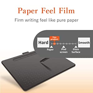 ELECOM-Japan Brand-Film for Wacom Pen Tablet Intuos Small Basic Wireless CTL-4100 Series Paper-Feel Anti Reflection TB-WIWSFLAPL (Tamaño: Intuos small)