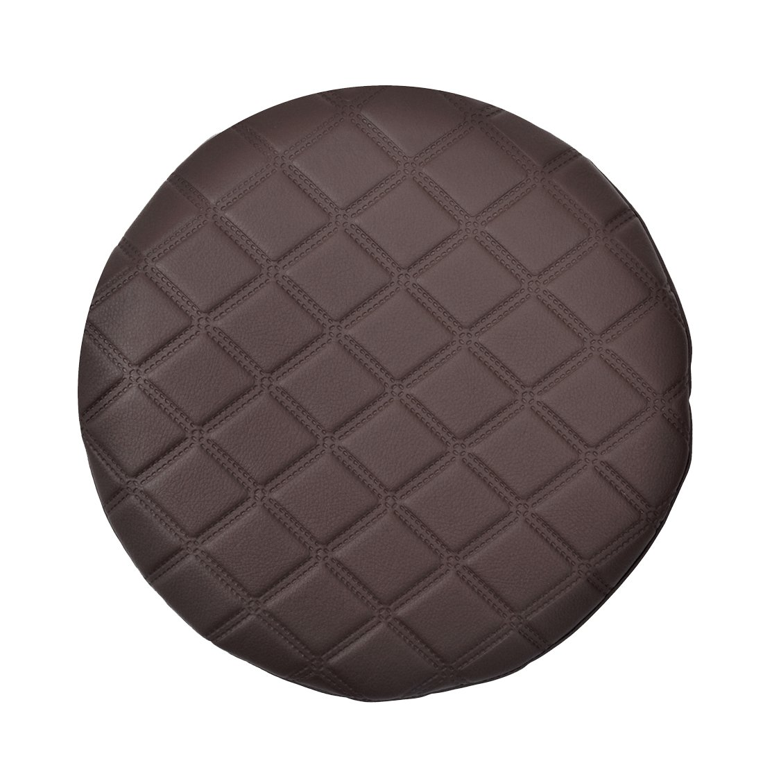 Jiyaru Round Stool Cover Faux Leather Bar Chair Seat Thicken Slipcpver Coffee 12.99 Inch