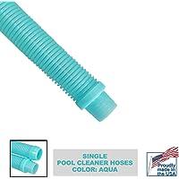 Destroyer Plastics 1 Year Manufacture Warranty Universal Swimming Pool Cleaner Hose 48″ Long Kreepy Krauly Baracuda G3 G4 Hayward Navigator Pool Vac Ultra AquaBug (1, Aqua)