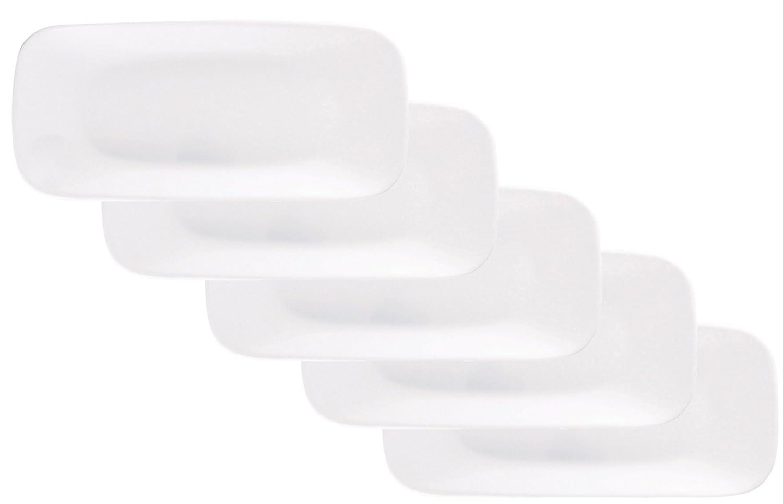 コレール プレート 皿 幅26.5cm 割れにくい 軽量 ウインターフロストホワイト スクエア 長皿 J2210-N 5枚セット CP-9627 B00IAFYEB8 スクエア長皿 スクエア長皿