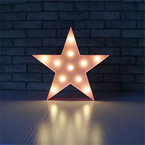 Cloud Led Table Lamp Star Moon Lamps Romantic 3D Wall Lamp Marquee Sign  Star Pink 0