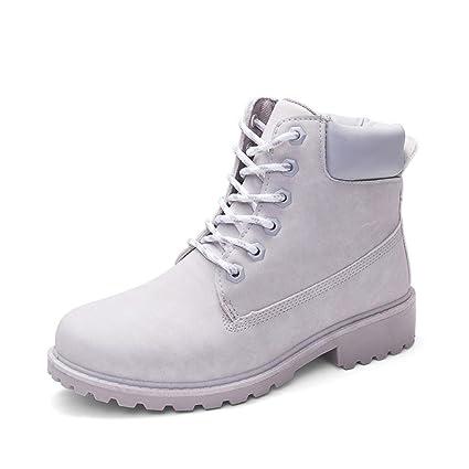 Zapatos de Mujer Señoras Martín Botas Faux Corto Casual Suave Antideslizante Nieve Zapatos Botines LMMVP (