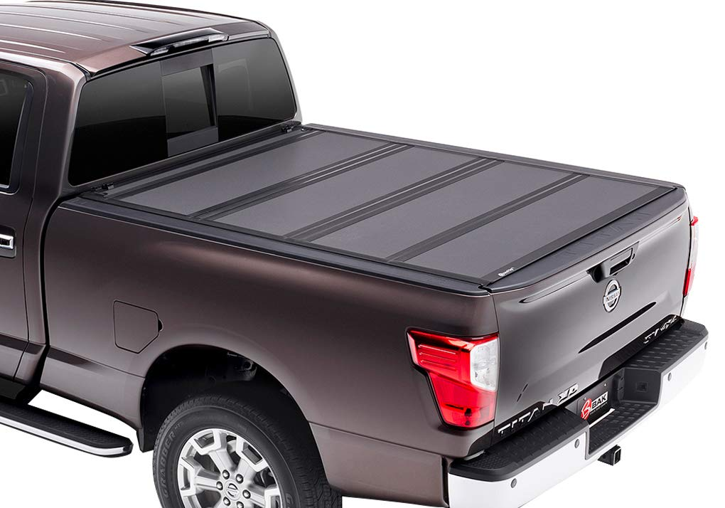 BAK Industries BAKFlip MX4 Hard Folding Truck Bed Cover 448525 2017-18 Nissan Titan 5' 6' with or W/O Track System