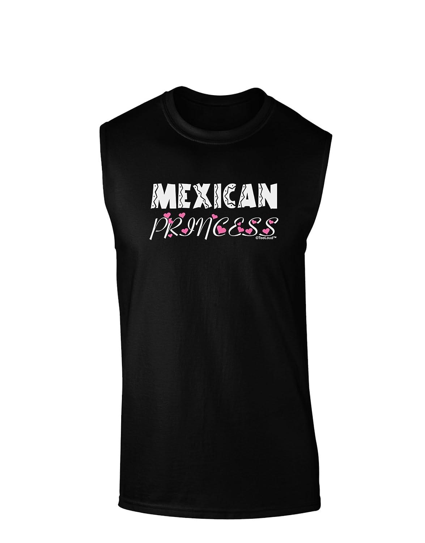 TooLoud Mexican Princess Cinco de Mayo Dark Muscle Shirt