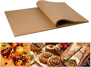TRIEtree 100 Pcs Natural Kraft Food Paper Liners Natural Brown Food Basket Liners Non-Stick Food Wrapping Paper,Hamberger Sandwich Wraps, Food Basket Liners,Deli Paper Sheets