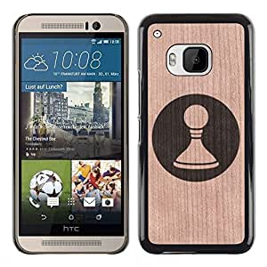 - / Chess Meaning Pawn Deep Game - - Funda Delgada Cubierta Case Cover de Madera / FOR HTC ONE M9 / Jordan Colourful Shop/