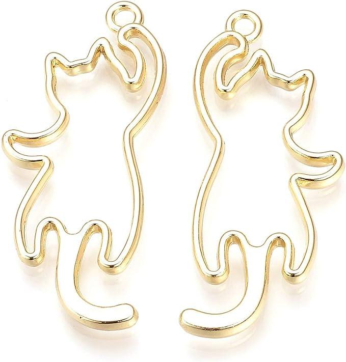 2 Rose Gold Bow Open Bezel Pendant DIY UV Resin C223B Resin Charms Alloy Open Back Bezel Pendants Resin Bezels