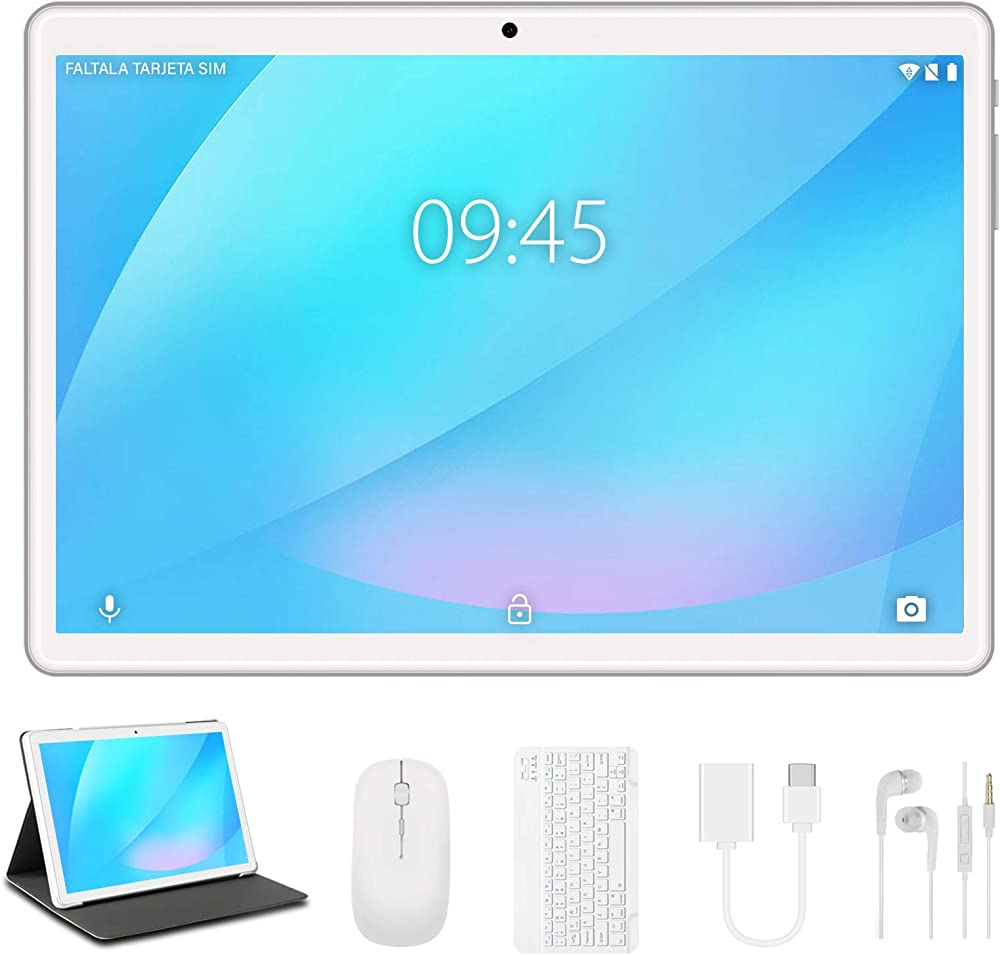 Tablet 10 pollici yestel android originale 4gb ram 64gb rom +espanso 128gb con schermo ips hd quad core tablet