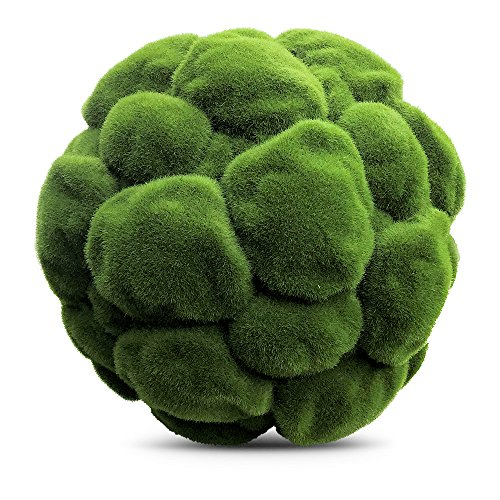 The Grammercy Moss Ball, 11 3/4 Inch Diameter, Lush Green, Bowl Filler Greenery Globe, Faux Velvety Texture, Clumps, Reproduction, Plastic, by Whole House Worlds