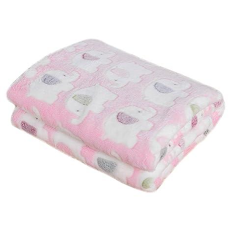 Caja patrón manta para mascotas Soft Coral Fleece perro gato cama cojín