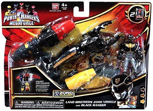 Power Rangers Megaforce Land Brothers Zord Vehicle and Black Ranger ()