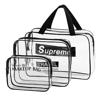 Amazon.com: Bolsa de aseo transparente de viaje – Aprobado ...