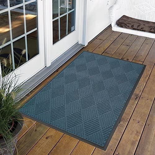 Design by AKRO Opus Doormat Size 2 x 3 , Color Blue