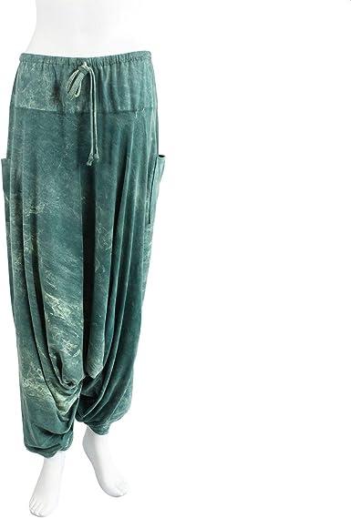 Freak Scene Pantalones harén - Bloomers - Pantalones Aladdin - Verde-Verde Menta - Jersey de algodón: Amazon.es: Ropa y accesorios