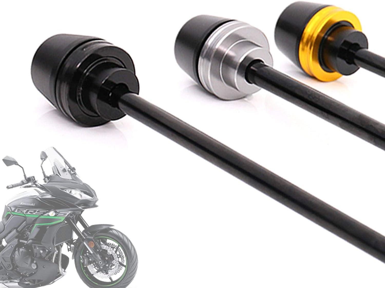 For Z900 2017-2018 Titanium Front Wheel Axle Fork Sliders Protectors Crash Protector Aluminum Rod Delrin Ends