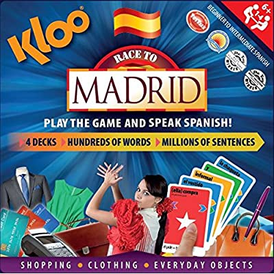 KLOO's Race to Madrid - The Learn to Speak Spanish Language Board Game