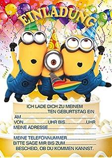 10 Einladungen Zum Kindergeburtstag Minions