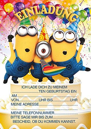 10 Einladungen Zum Kindergeburtstag Minions: Amazon.de: Bürobedarf U0026  Schreibwaren