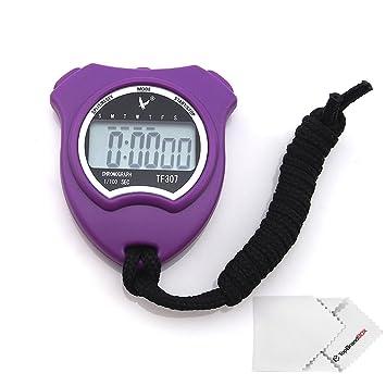 a36ea3cda60f LEAP TF307 - Cronómetro Digital Timer Deporte con Alarma Fecha para Fitness  Color Violeta  Amazon.es  Deportes y aire libre