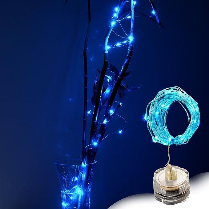 AGPtek [3 en Pack] 3M Guirnaldas LED con 30 Bombillitas, Tiras de LED de Alambre de Cobre con Luces Estrelladas Sumergibles y Impermeables, Operadas por ...