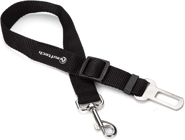 Neuftech/® 2X Guinzaglio Cintura di Sicurezza Auto Regolabile per Cane Cani Cat 65cm Nero