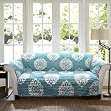 Lush Decor Sophie Sohpie Slipcover/Furniture Protector for Loveseat, Blue