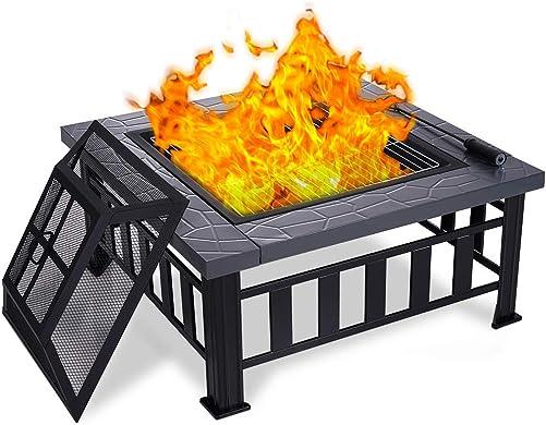 Ezcheer 34″ Outdoor Fire Pit 3