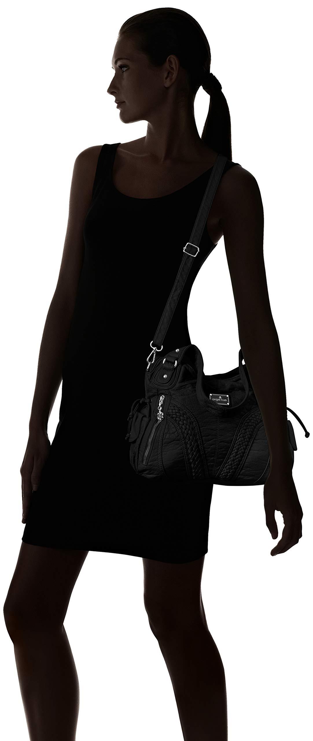 Angelkiss-Women-Top-Handle-Satchel-Handbags-Shoulder-Bag-Messenger-Tote-Washed-Leather-Purses-Bag
