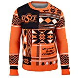 FOCO Oklahoma State Patches Ugly Crew Neck Sweater Extra Large