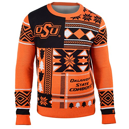 FOCO Oklahoma State Patches Ugly Crew Neck Sweater Extra Large by FOCO