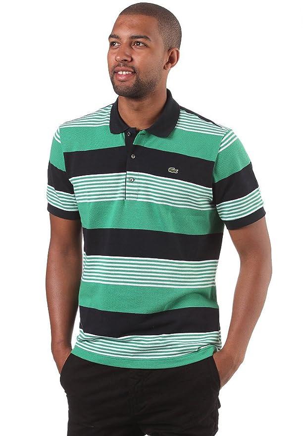 Lacoste Polo Hombre Rigata Slim Blanco Verde Negro, 6: Amazon.es ...