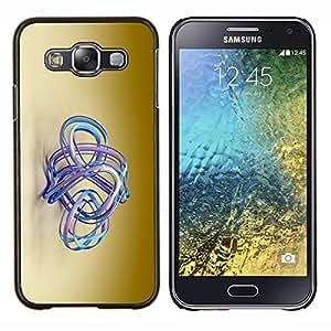 TECHCASE---Cubierta de la caja de protección para la piel dura ** Samsung Galaxy E5 E500 ** --agua aqua azul color beige marrón de oro