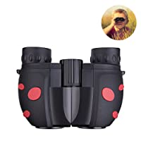 Children Binoculars For Kids, Mini Binoculars Compact Lightweight Portable Rubber Binoculars Telescope for Bird Watching, Star Watching, Wildlife Hiking Travelling ,kids children gift Sport Game Concerts (Black)