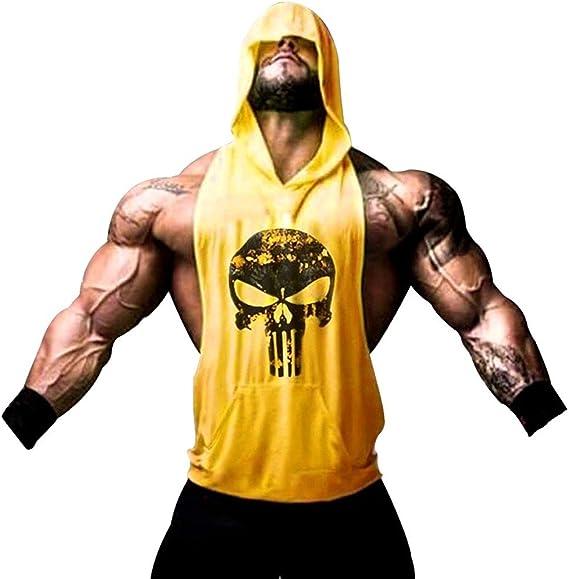 Tank Top Hombre de Tirantes Camiseta Deportiva de algodón para ...