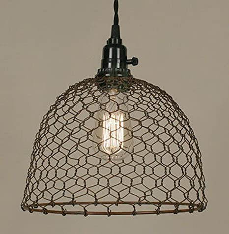 3 Styles-Colors - Chicken Wire Swag Lamp Pendant Light Antique ...