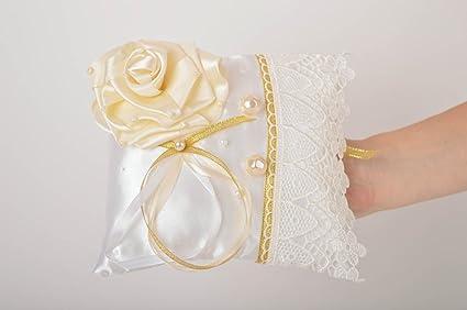 Cojin para alianzas de boda hecho a mano almohada para anillos regalo original